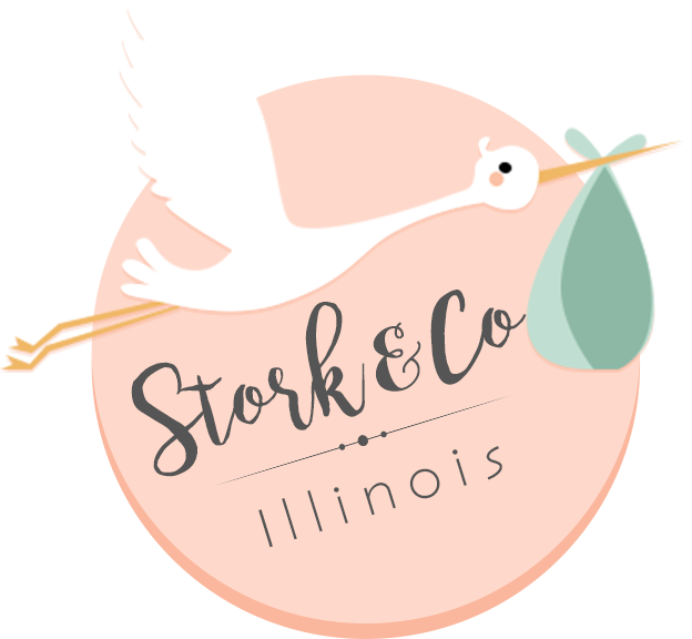 Stork and Co Birth Announcement Yard Signs Greater Peoria – Baby Announcement Lawn Signs